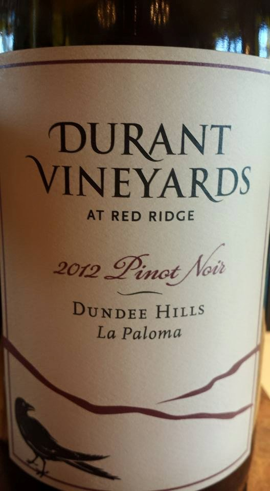 Durant Vineyards – At Red Ridge – Pinot Noir 2012 – La Paloma – Dundee Hills