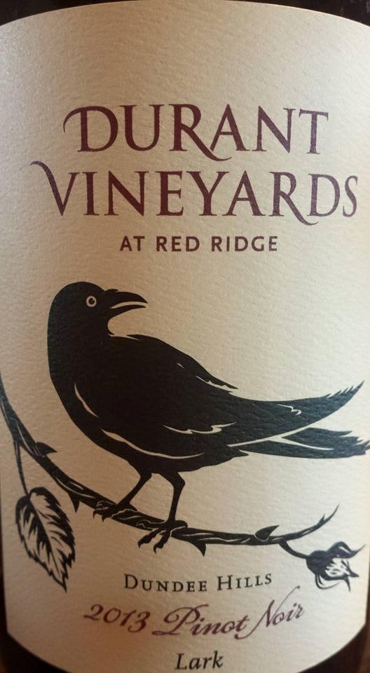 Durant Vineyards – At Red Ridge – Pinot Noir 2013 – Lark – Dundee Hills