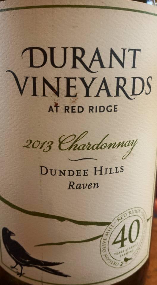 Durant Vineyards – Chardonnay 2013 – Raven – Dundee Hills