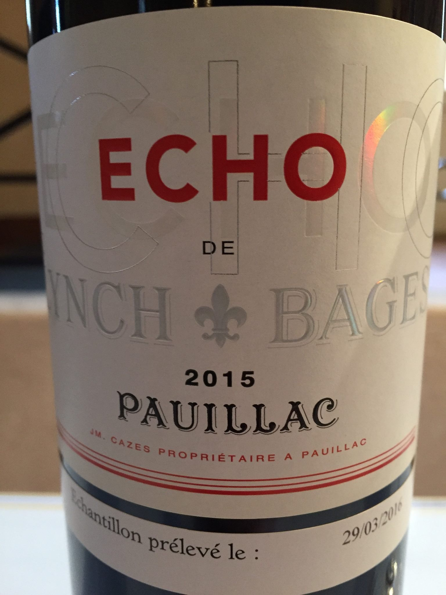 Echo de Lynch Bages 2015 – Pauillac