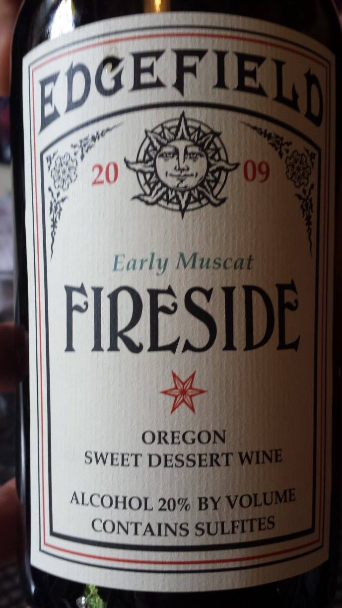 Edge Field – Early Muscat 2009 – Oregon – Sweet Dessert Wine