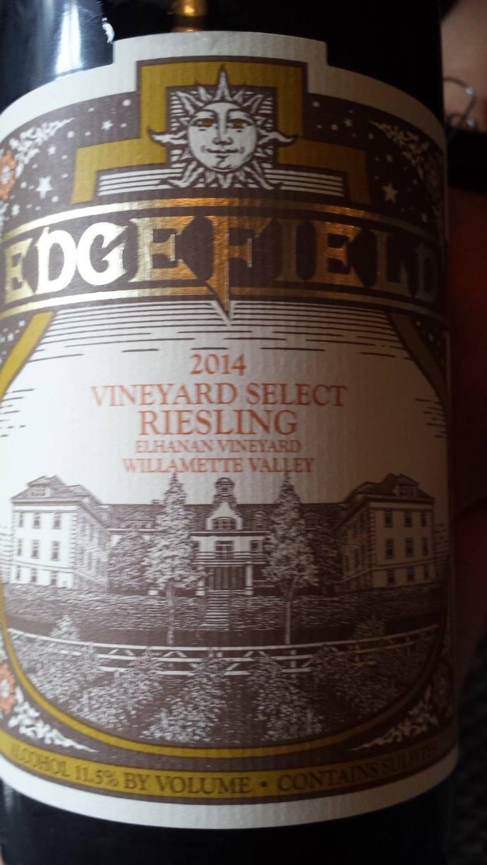 Edge Field – Vineyard Select Riesling 2014 – Elhanan Vineyard – Willamette Valley