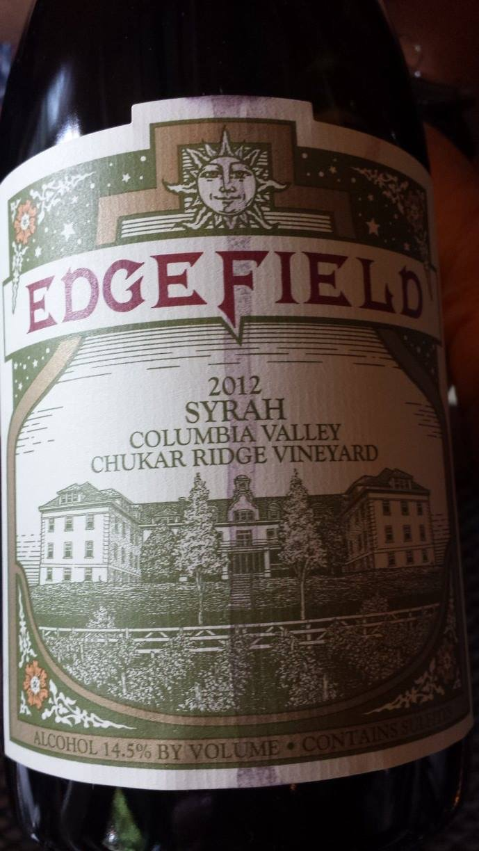 Edgefield – Syrah 2012 – Chukar Ridge Vineyard – Columbia Valley (Washington) :