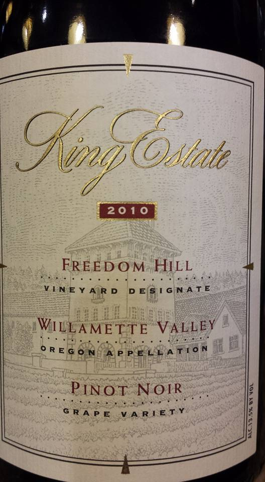 King Estate – Freedom Hill 2010 – Pinot Noir – Willamette Valley