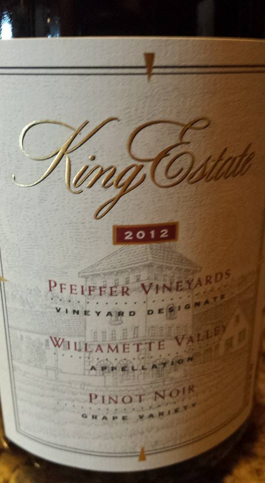 King Estate – Pfeiffer Vineyards 2012 – Pinot Noir – Willamette Valley