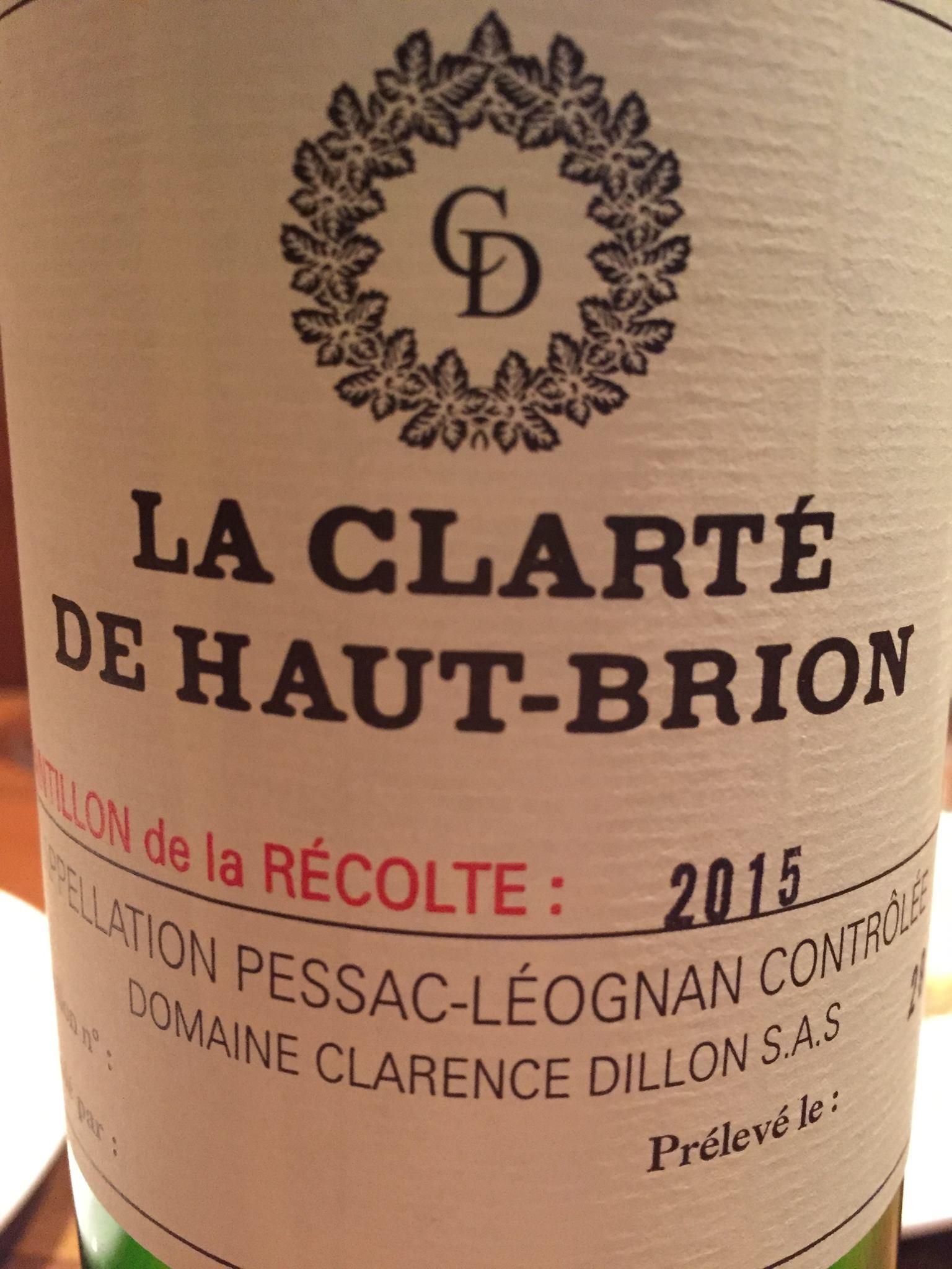 La Clarté de Haut-Brion 2015 – Pessac-Léognan