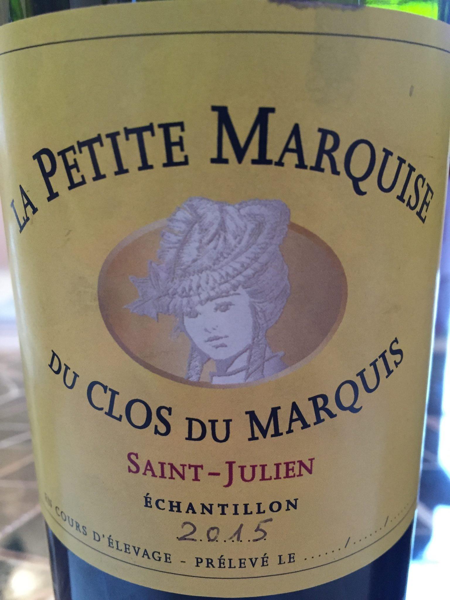 La Petite Marquise du Clos du Marquis 2015 – Saint-Julien