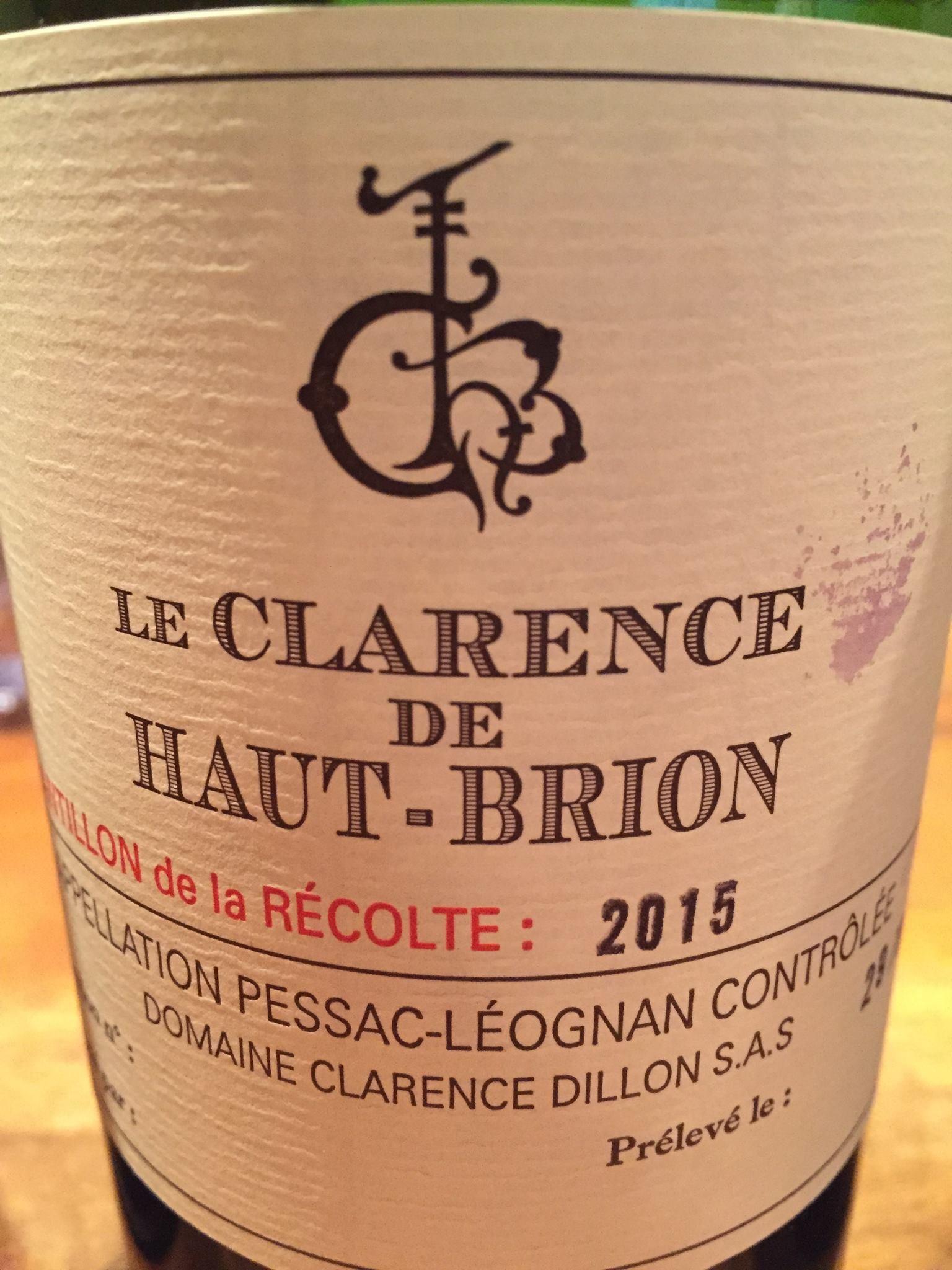 Le Clarence de Haut-Brion 2015 – Pessac-Léognan