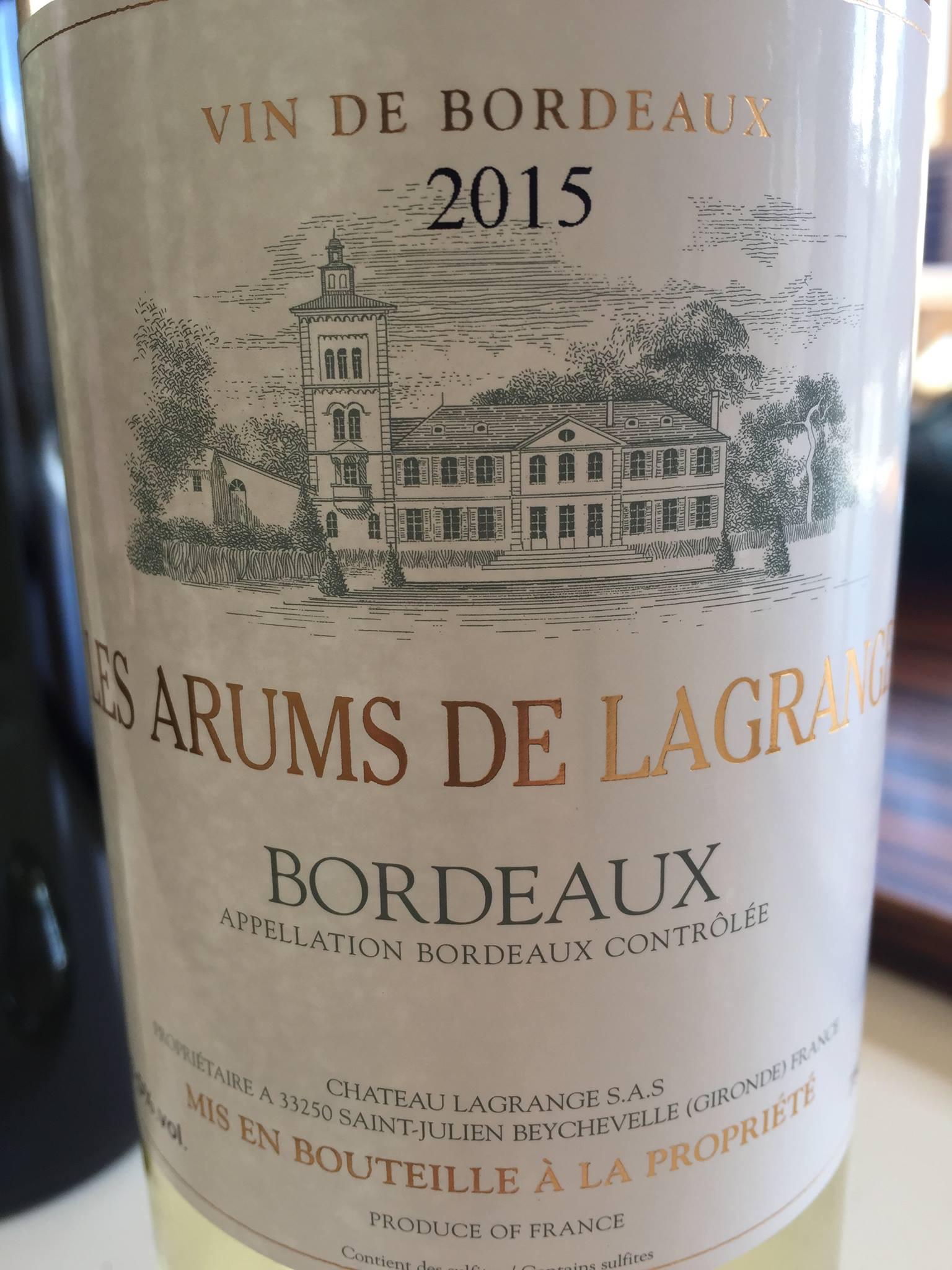 Les Arums de Lagrange 2015 – Bordeaux