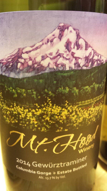 Mt. Hood Winery – Gewürztraminer 2014 – Columbia Gorge