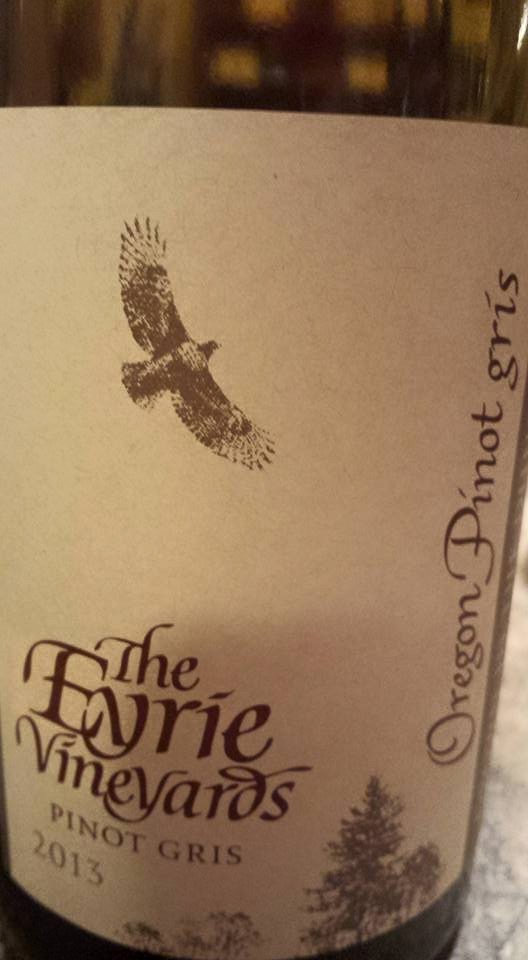 The Eyrie Vineyards – Pinot Gris 2013 – Dundee Hills