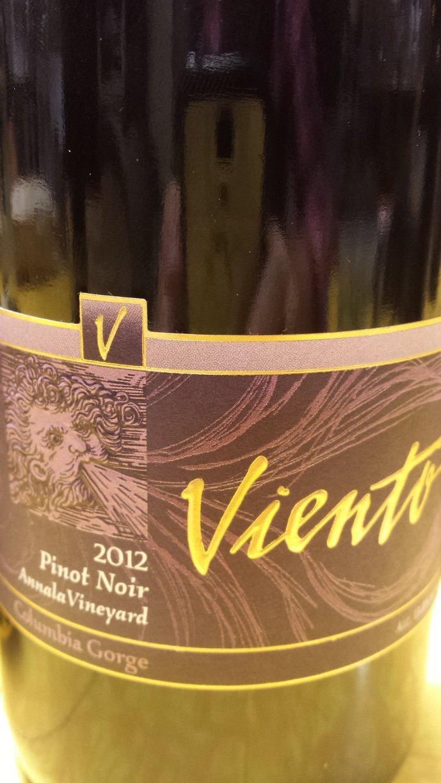 Viento – Pinot Noir 2012 – Amnala Vineyard – Columbia Gorge