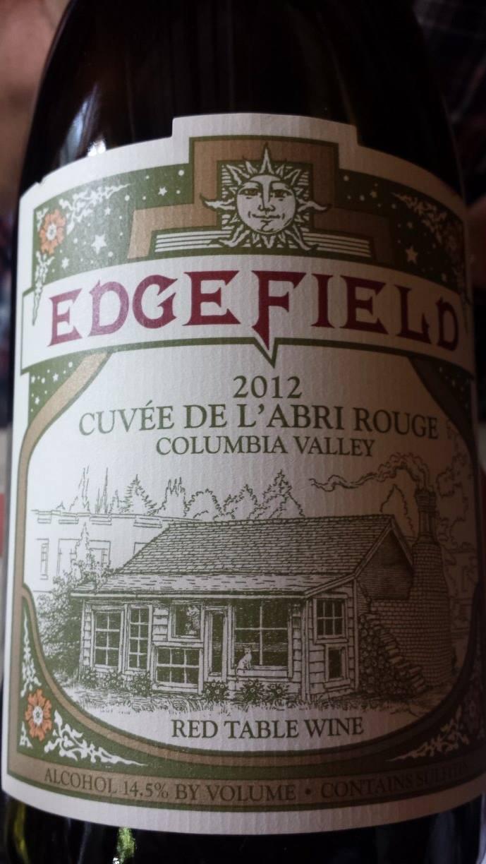 Edge Field – Cuvée de l'abri rouge 2012 – Columbia Valley