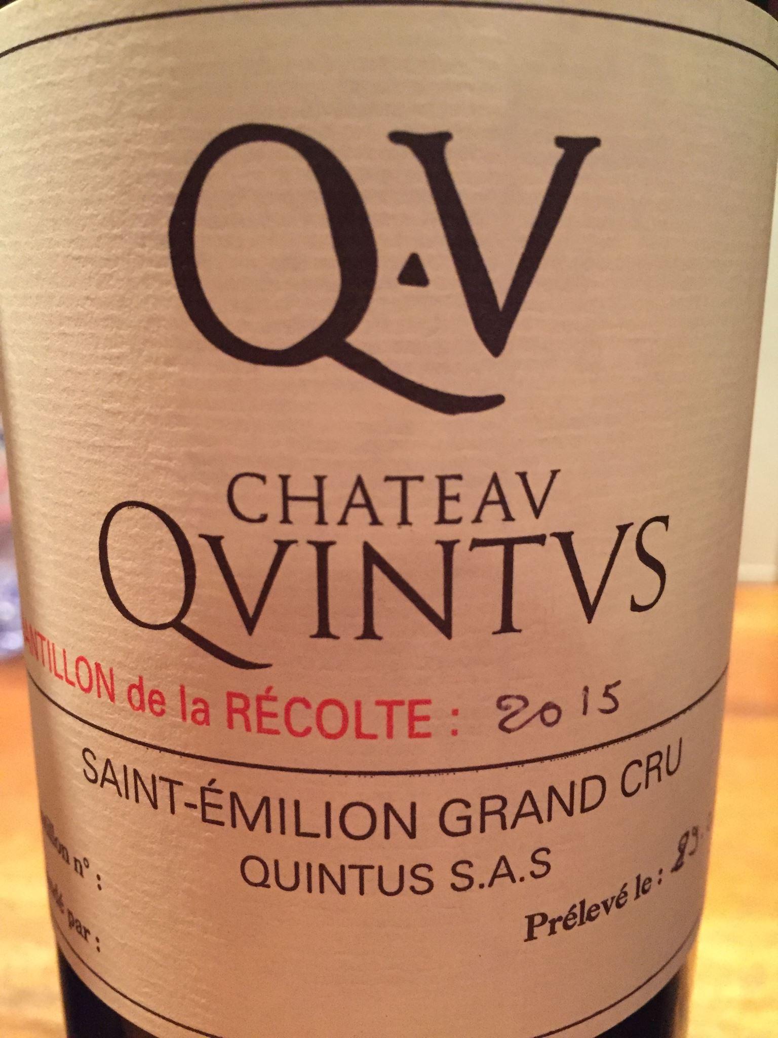 Château Quintus 2015 – Saint-Emilion Grand Cru Classé