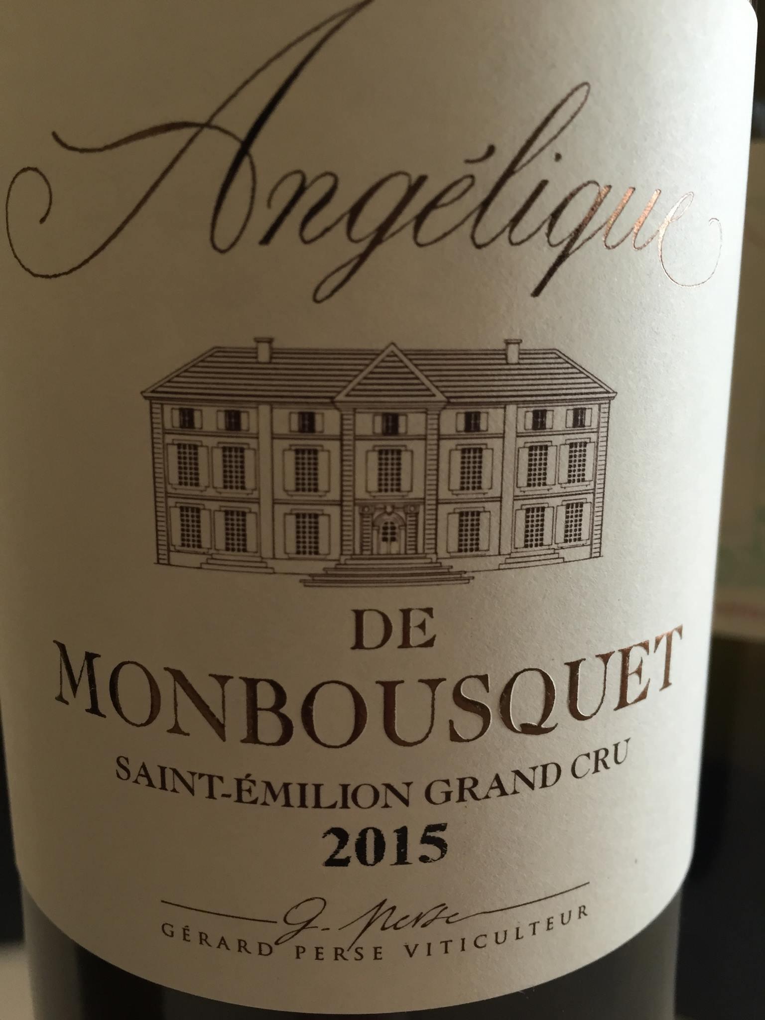 Angélique de Monbousquet 2015 – Saint-Emilion Grand Cru