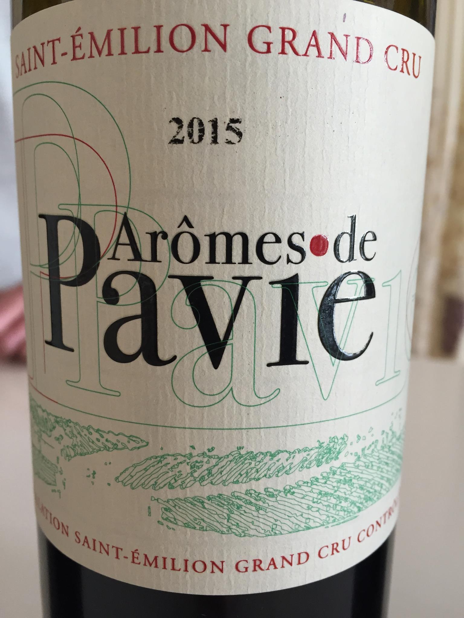 Arômes de Pavie 2015 – Saint-Emilion Grand Cru