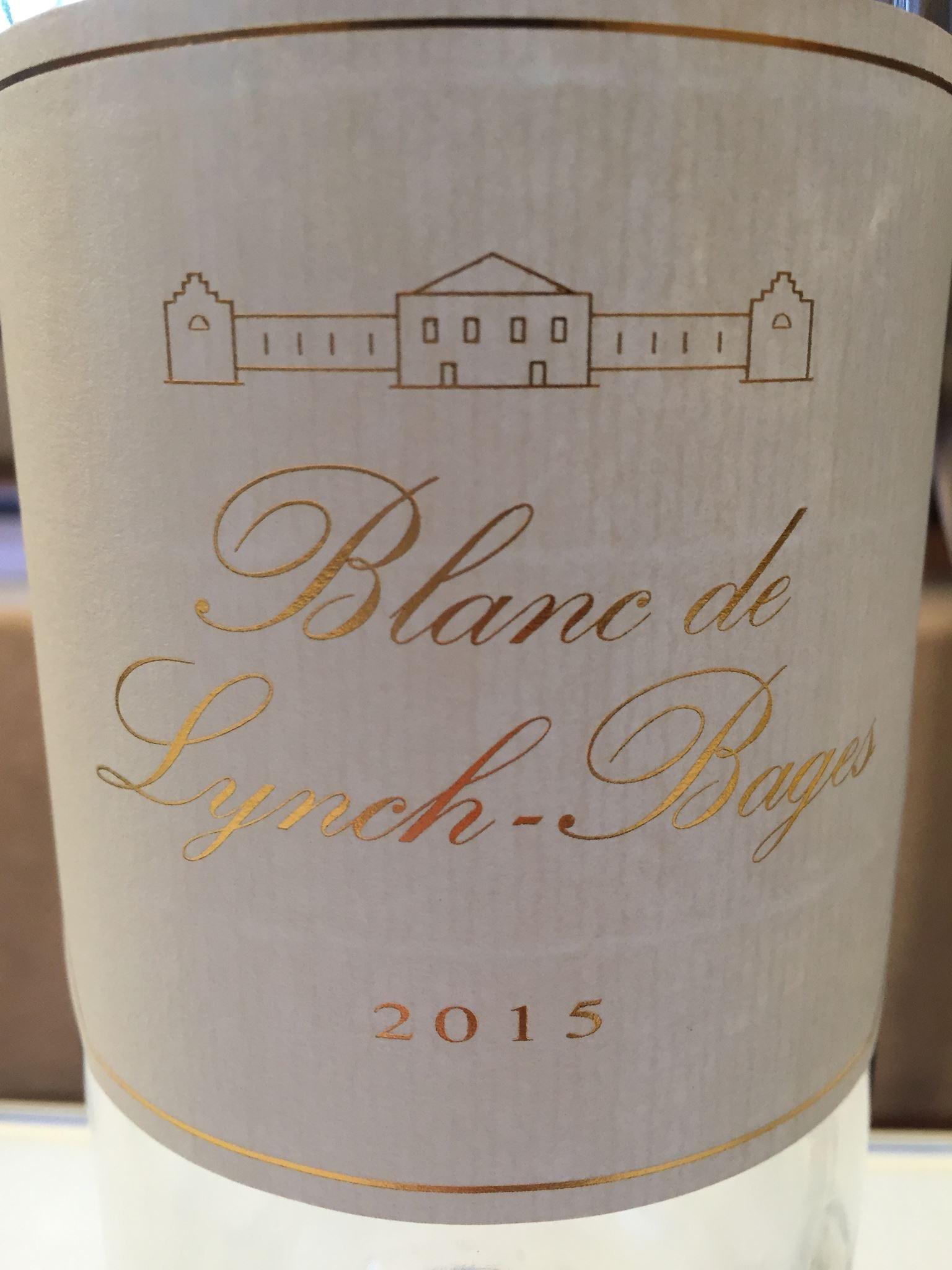 Blanc de Lynch Bages 2015 – Bordeaux