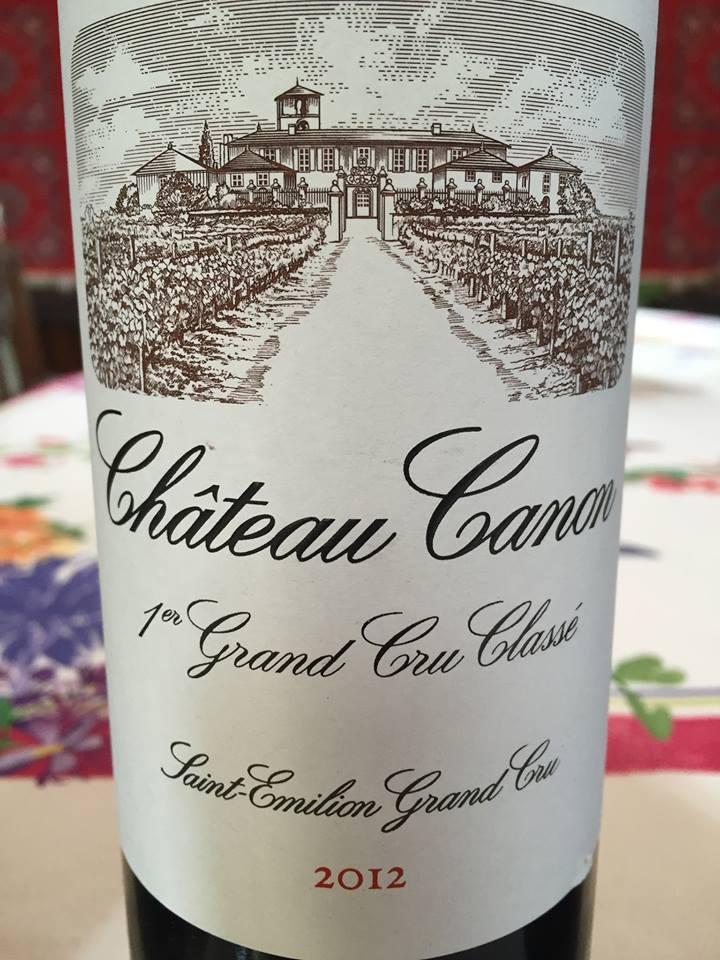 Château Canon 2012 – Saint-Emilion Grand Cru, 1er Grand Cru Classé B