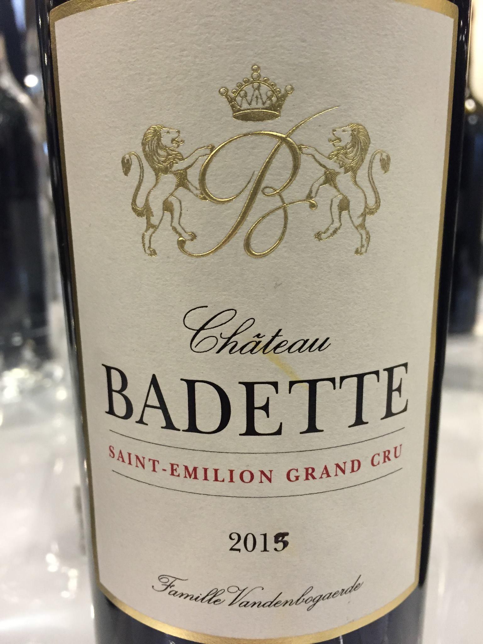 Château Badette 2015 – Saint-Emilion Grand Cru