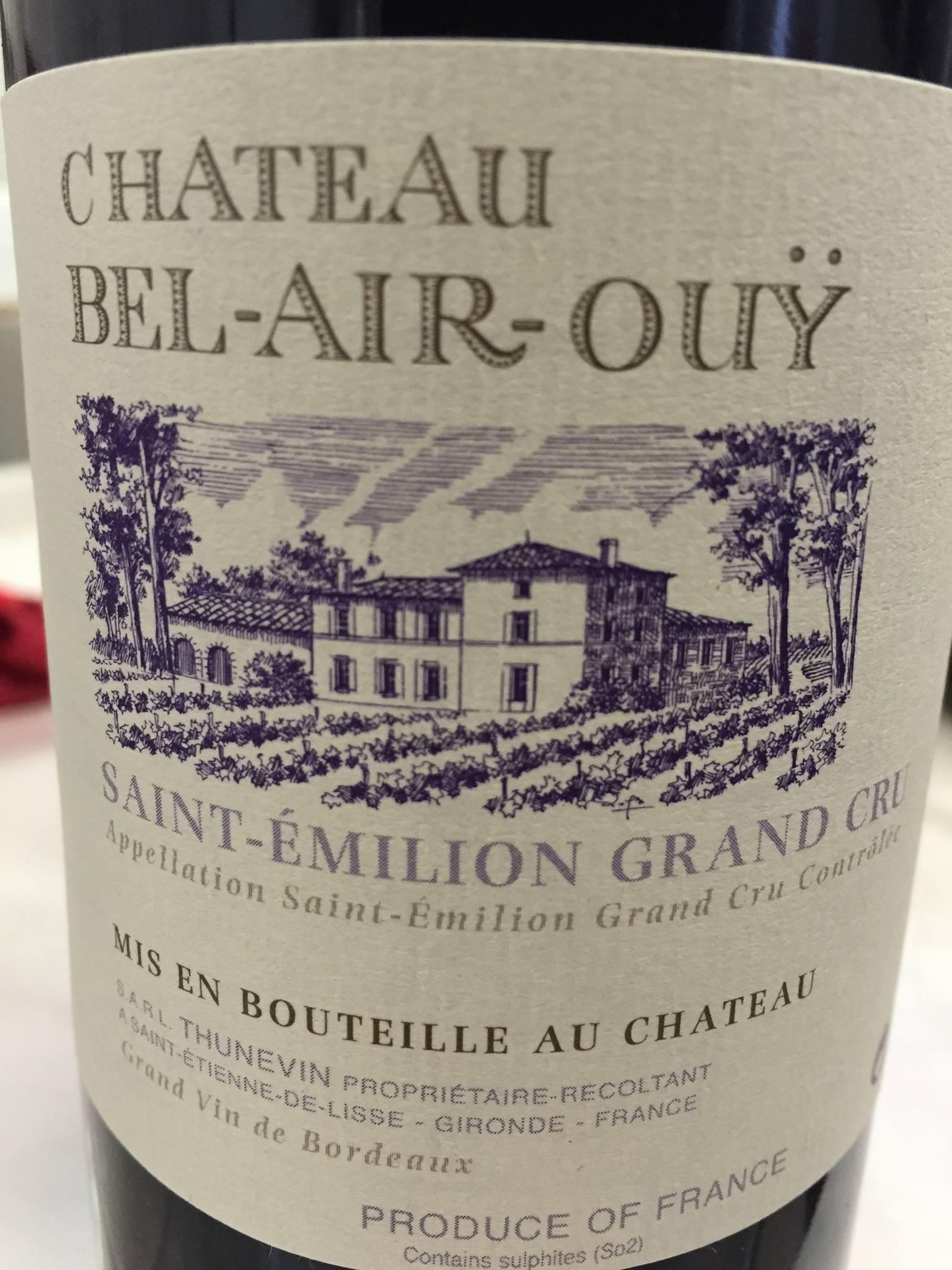 Château Bel-Air-Ouÿ 2015 – Saint-Emilion Grand Cru