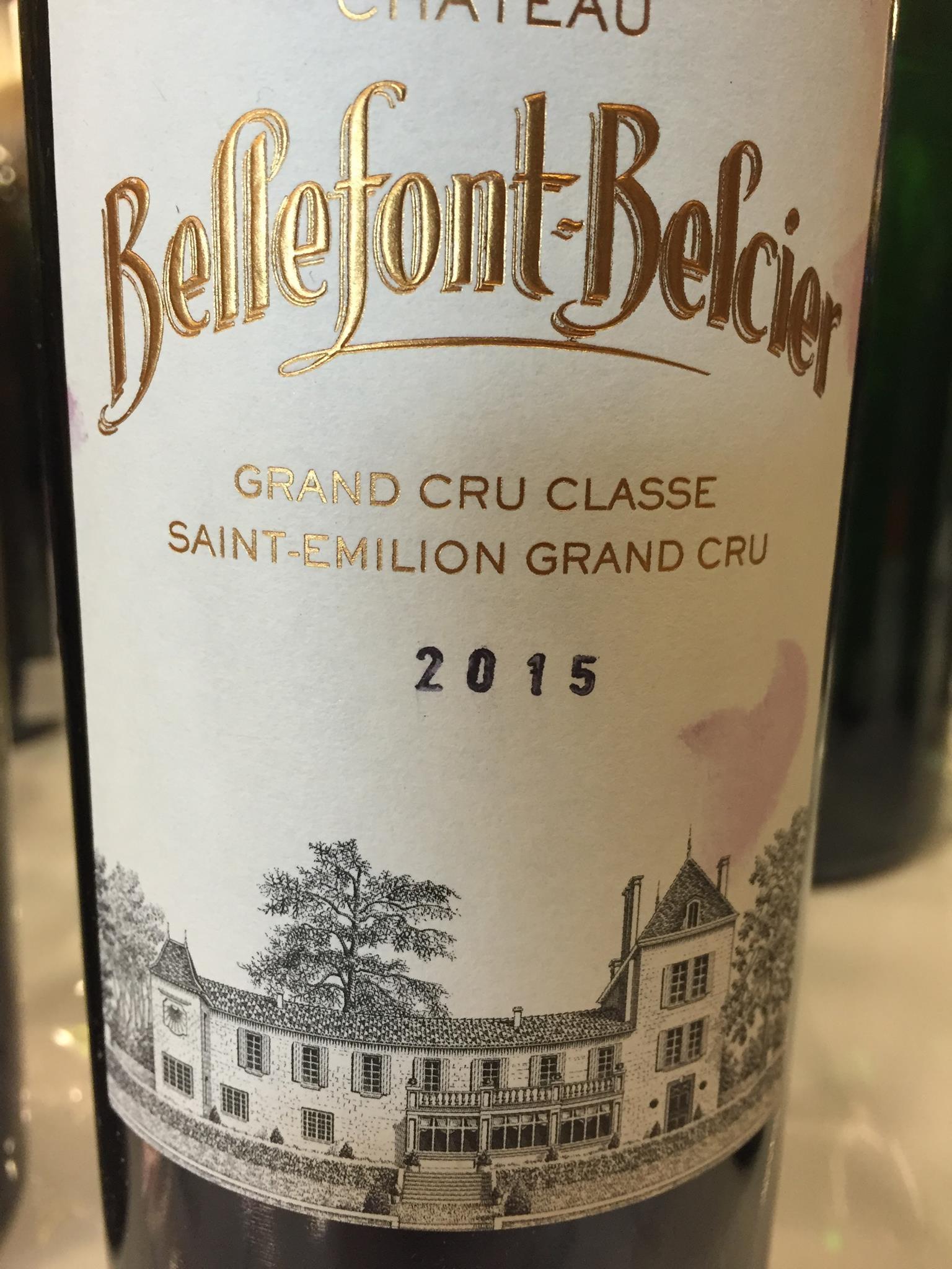 Château Bellefont-Belcier 2015 – Saint-Emilion Grand Cru, Grand Cru Classé