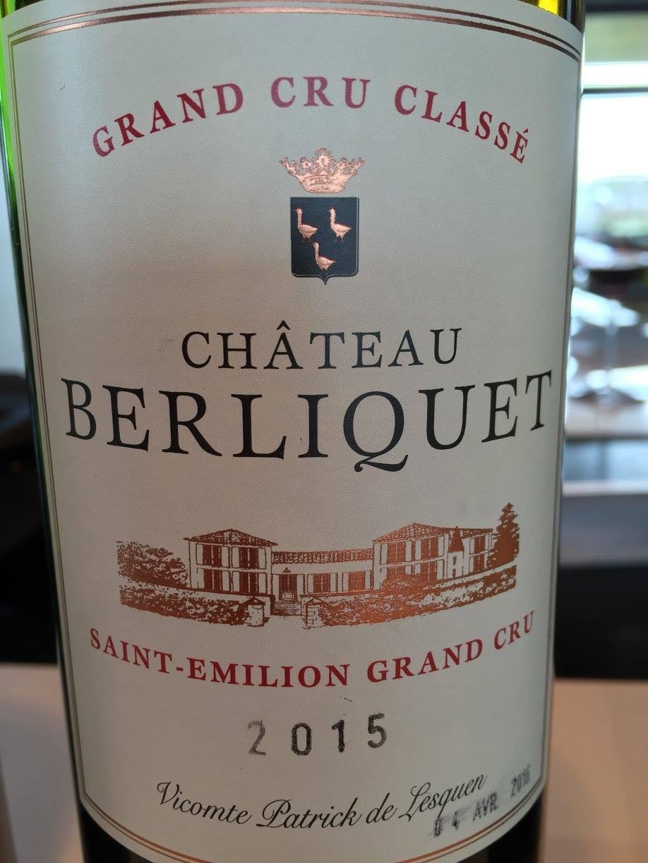 Château Berliquet 2015 – Saint-Emilion Grand Cru Classé