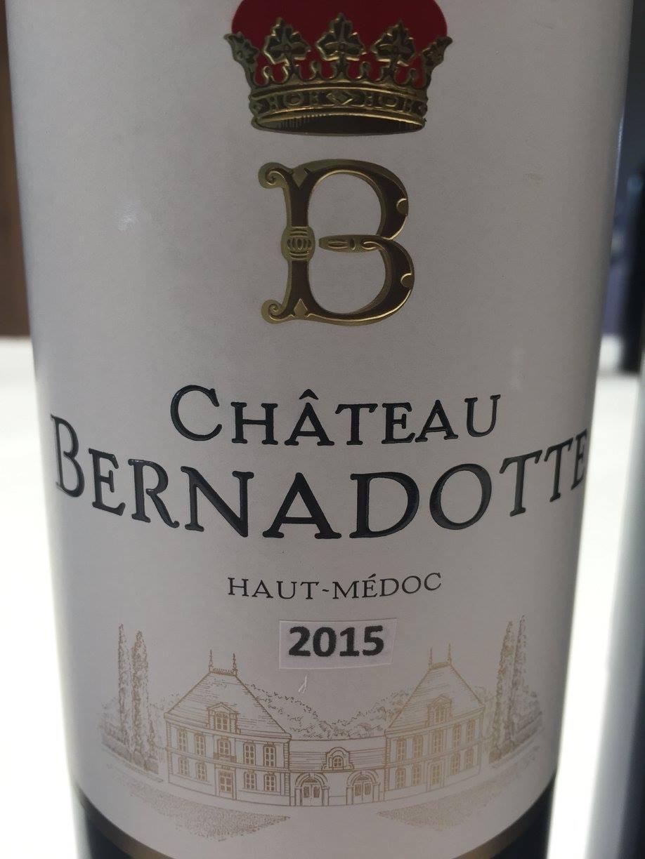 Château Bernadotte 2015 – Haut-Médoc