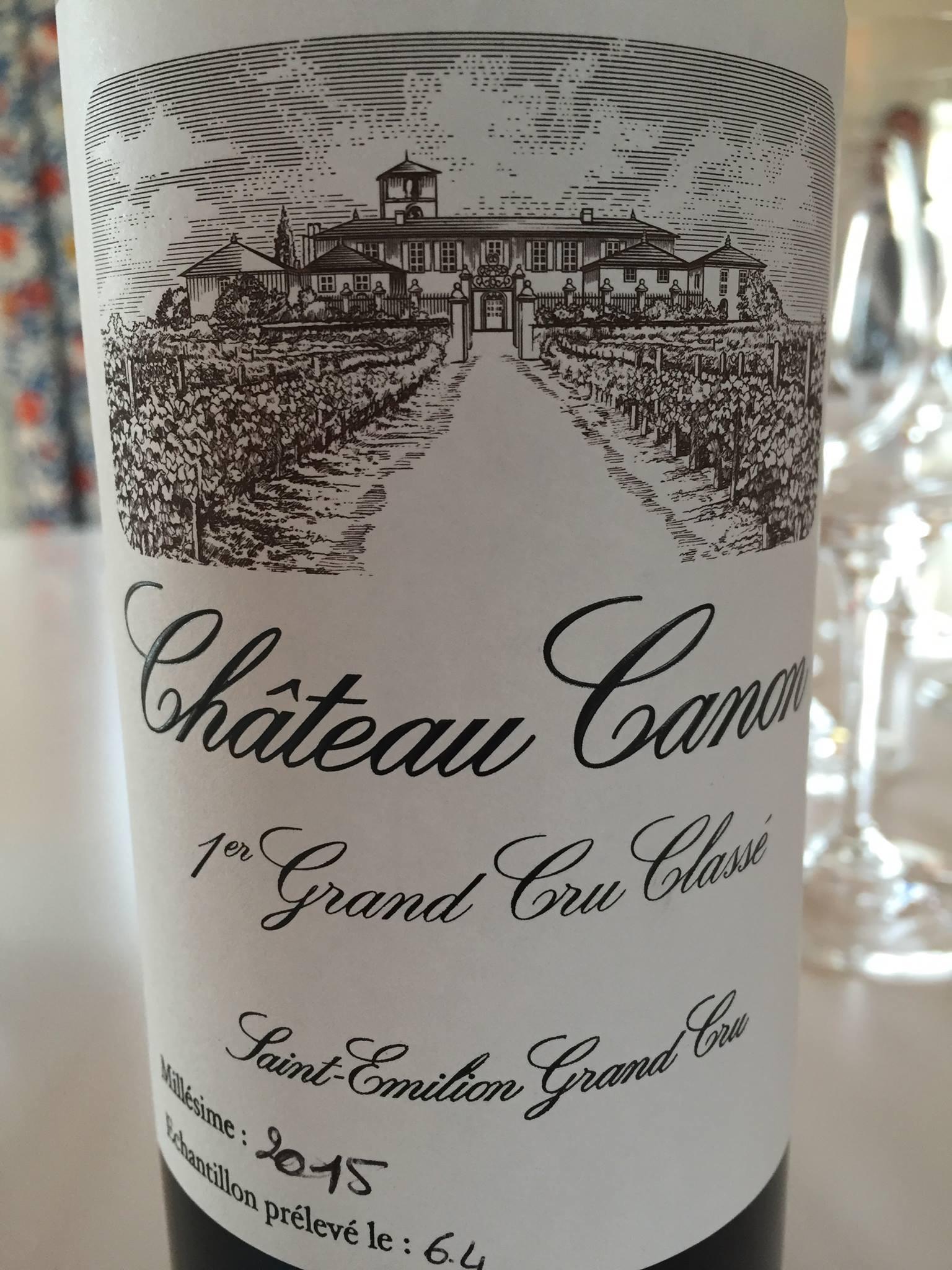 Château Canon 2015 – Saint-Emilion Grand Cru, 1er Grand Cru Classé B de Saint-Emilion