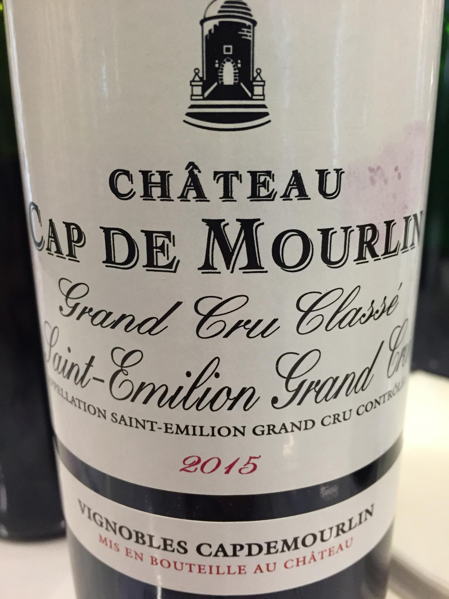 Château Cap de Mourlin 2015 – Saint-Emilion Grand Cru, Grand Cru Classé