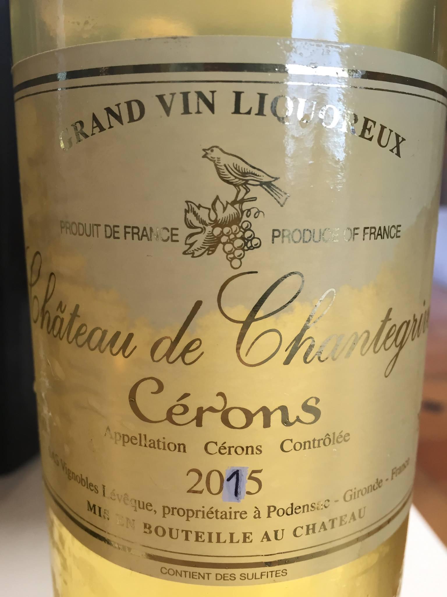 Château Chantegrive 2015 – Cerons