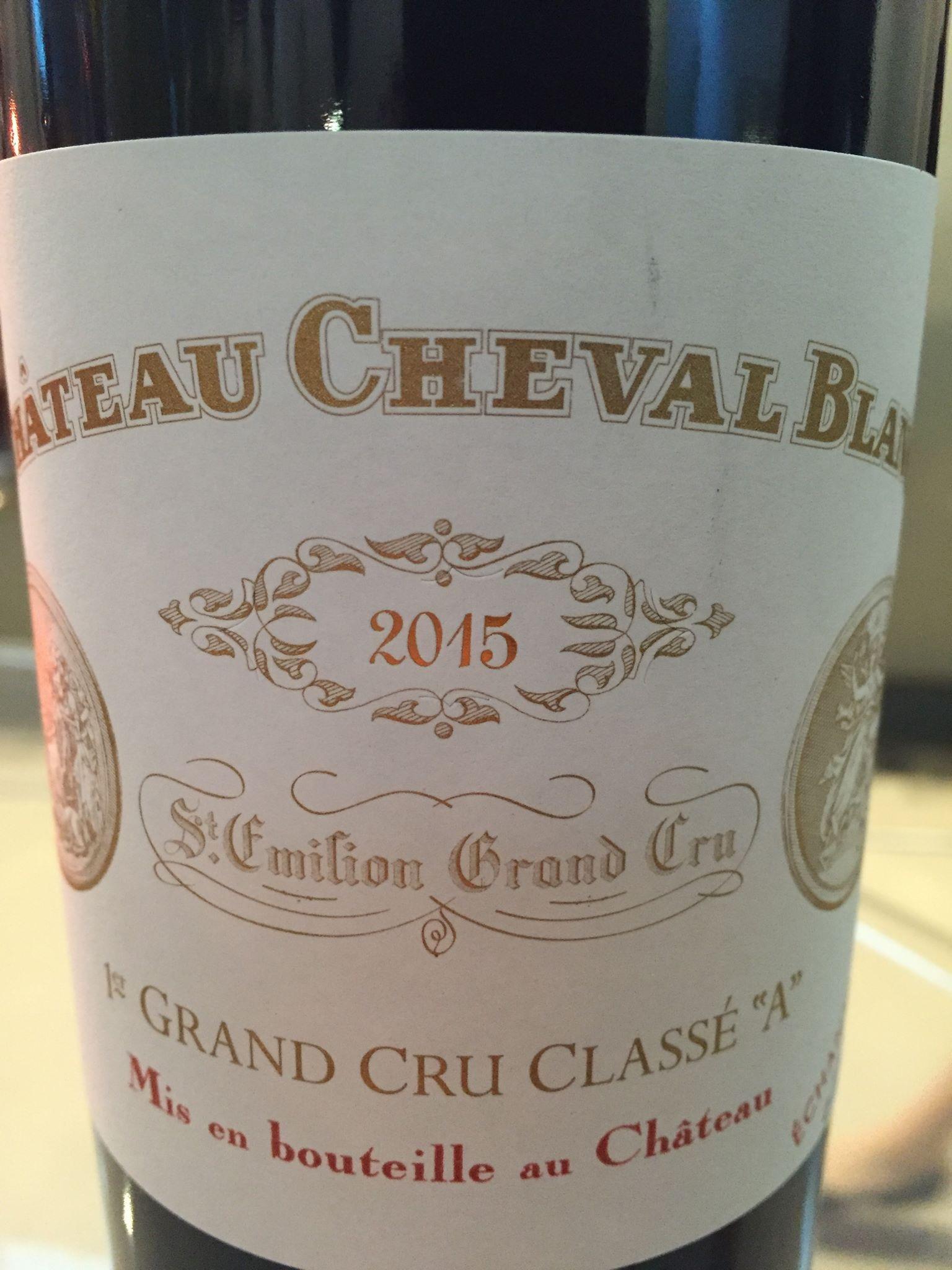 Château Cheval Blanc 2015 – Saint-Emilion Grand Cru, 1er Grand Cru Classé A