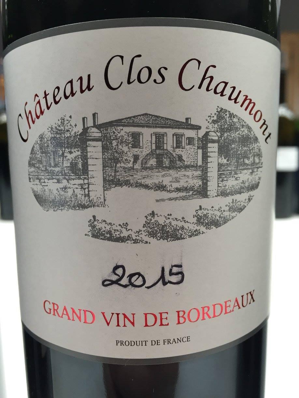 Château Clos Chaumont 2015 – Cadillac Côtes de Bordeaux
