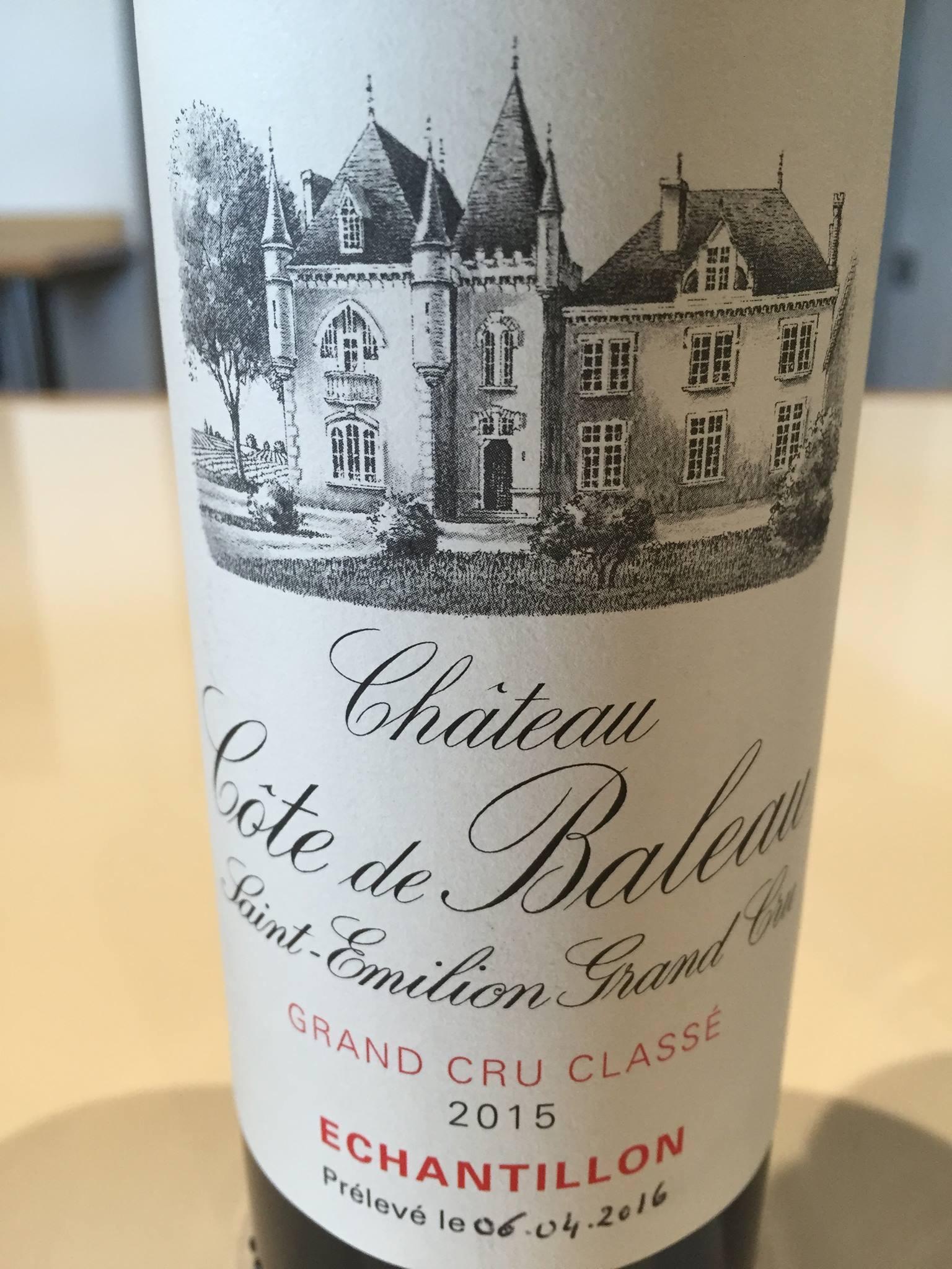 Château Côte de Baleau 2015 – Saint-Emilion Grand Cru Classé