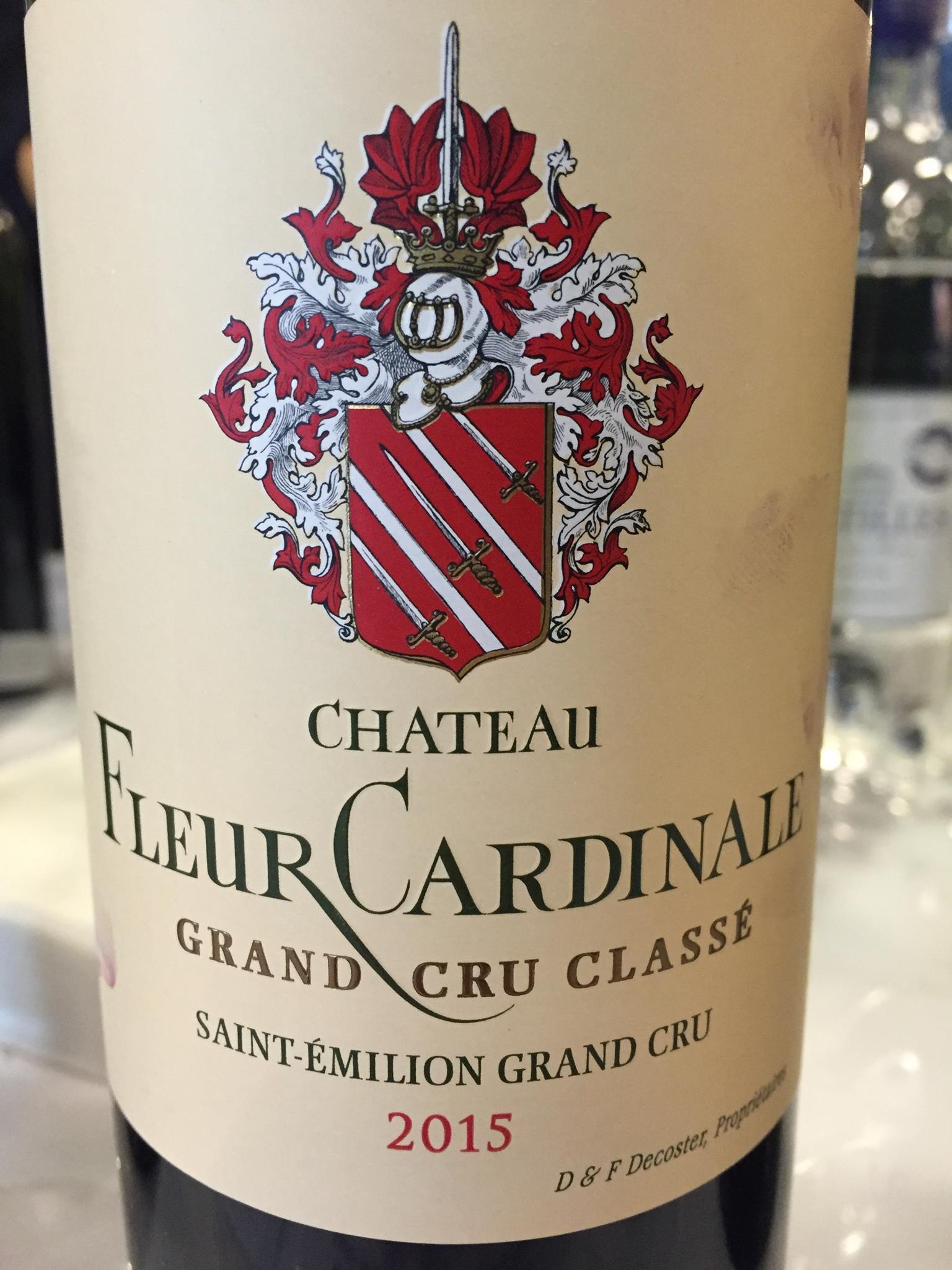 Château Fleur Cardinale 2015 – Saint-Emilion Grand Cru, Grand Cru Classé