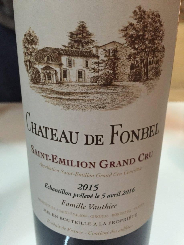 Château Fonbel 2015 – Saint-Emilion Grand Cru