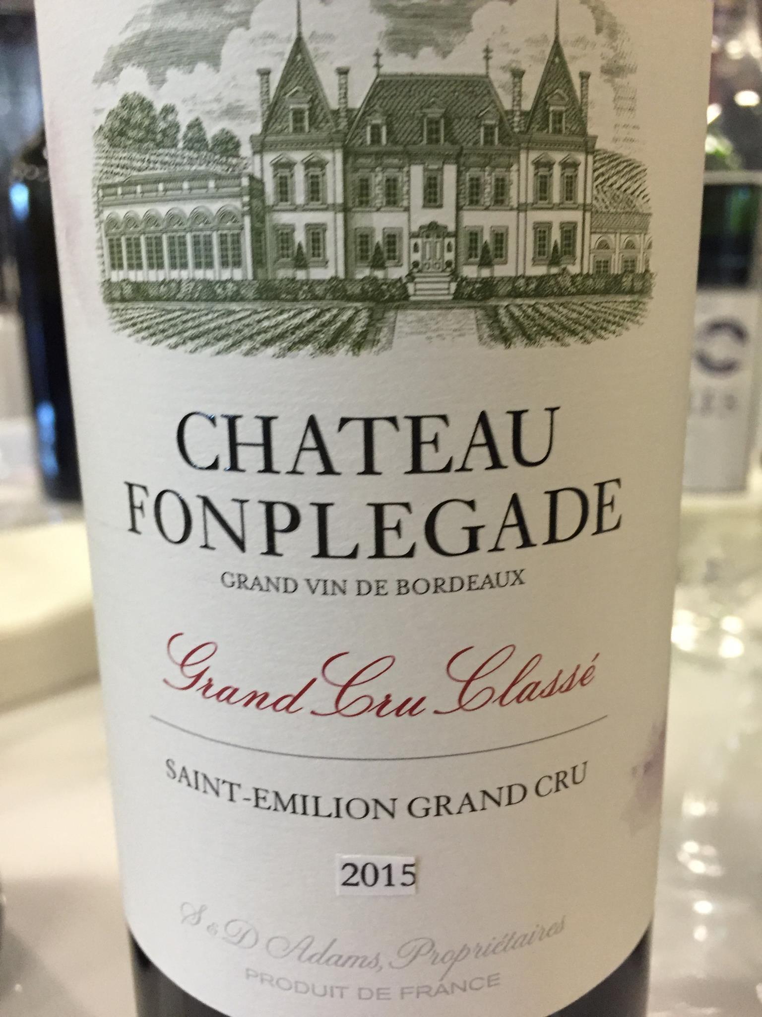 Château Fonplégade 2015 – Saint-Emilion Grand Cru, Grand Cru Classé