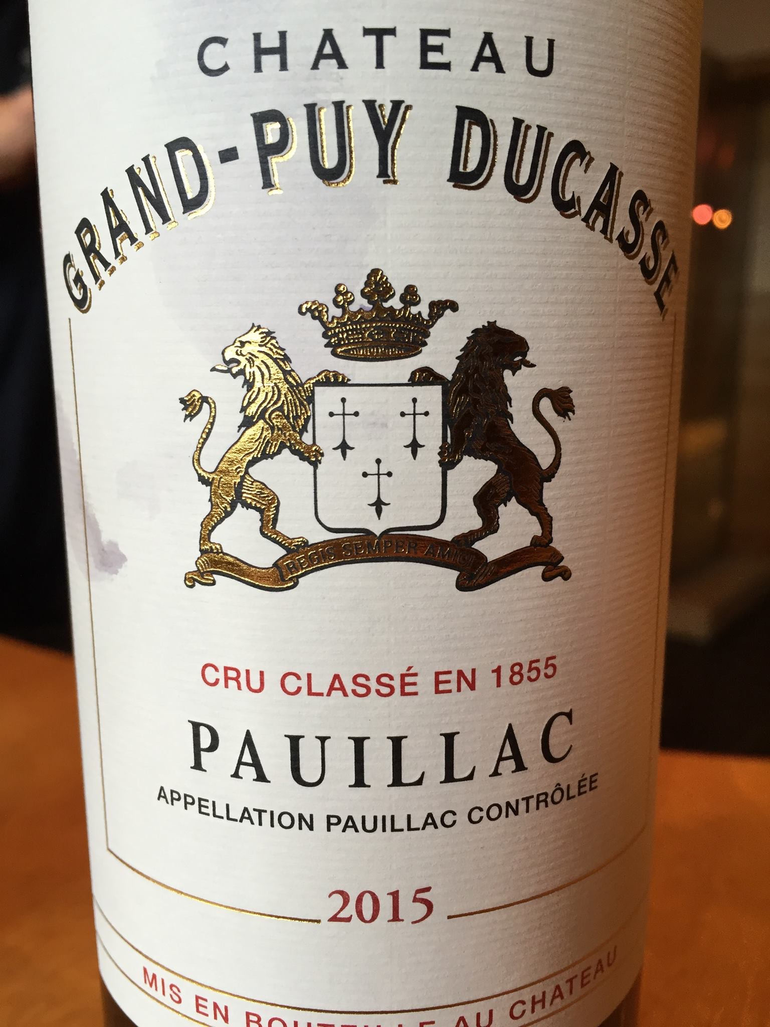 Château Grand Puy Ducasse 2015 – Pauillac, 5ème Cru Classé