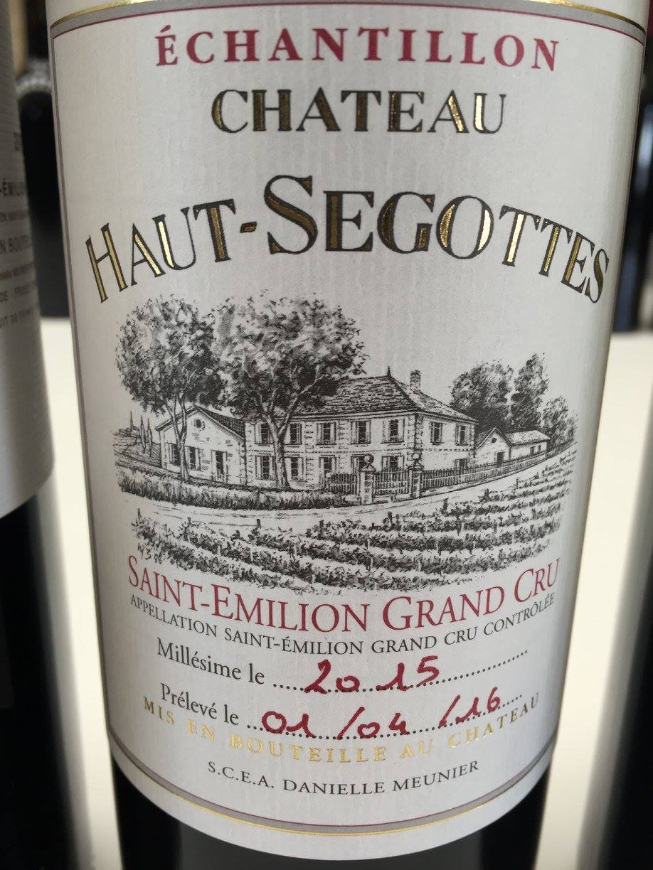 Château Haut-Segottes 2015 – Saint-Emilion Grand Cru