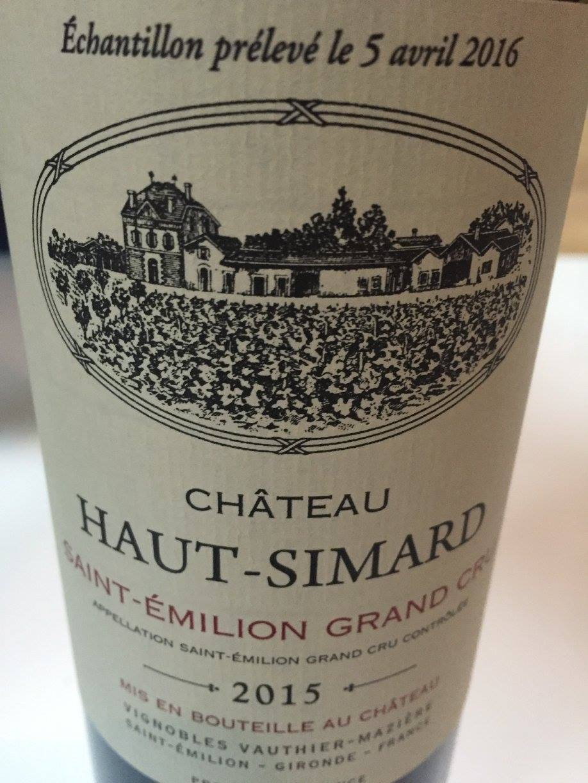 Château Haut-Simard 2015 – Saint-Emilion Grand Cru