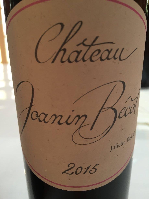 Château Joanin Bécot 2015 – Castillon – Côtes-de-Bordeaux