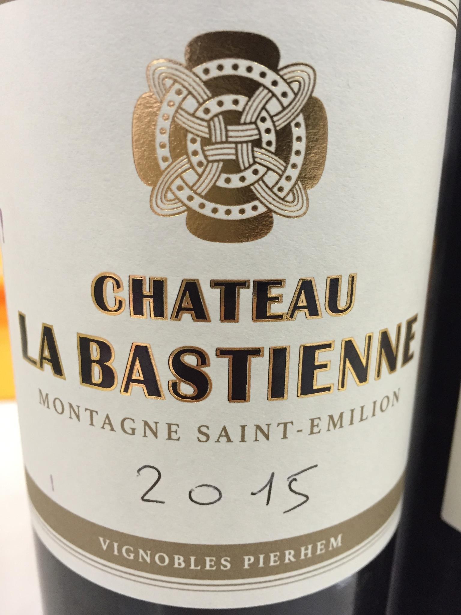 Château La Bastienne 2015 – Montagne Saint-Emilion