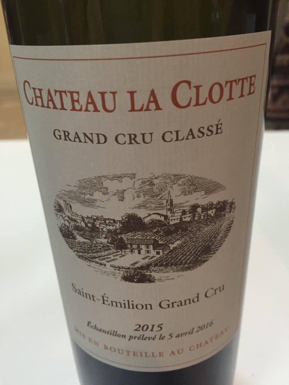 Château La Clotte 2015 – Saint-Emilion Grand Cru Classé