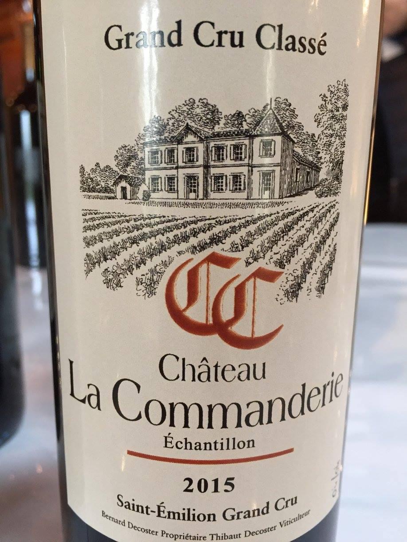 Château La Commanderie 2015 – Saint-Emilion Grand Cru Classé