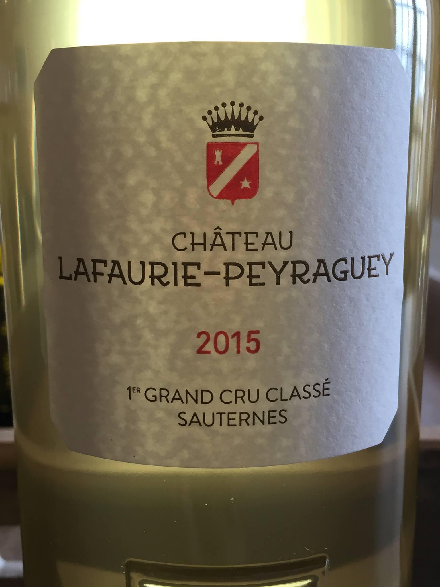 Château Lafaurie-Peyraguey 2015 – Sauternes, 1er Grand Cru Classé