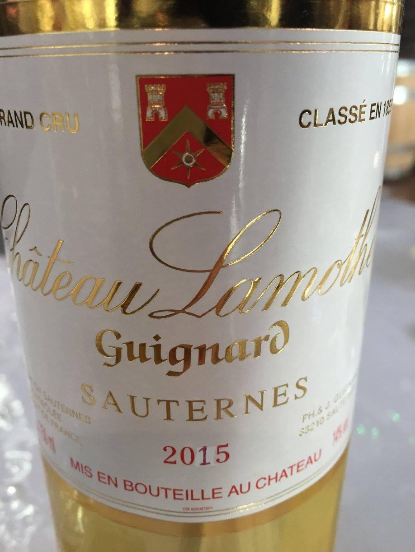 Château Lamothe-Guignard 2015 – Sauternes, 2nd Cru Classé