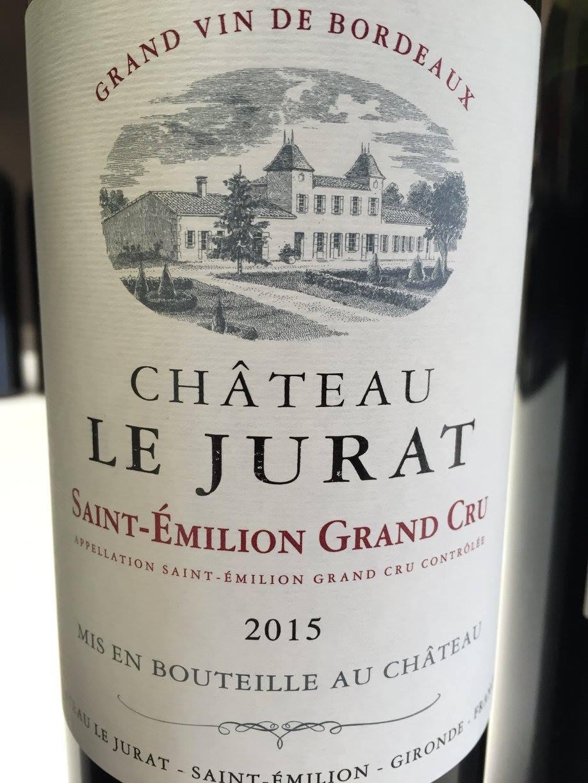 Château Le Jurat 2015 – Saint-Emilion Grand Cru
