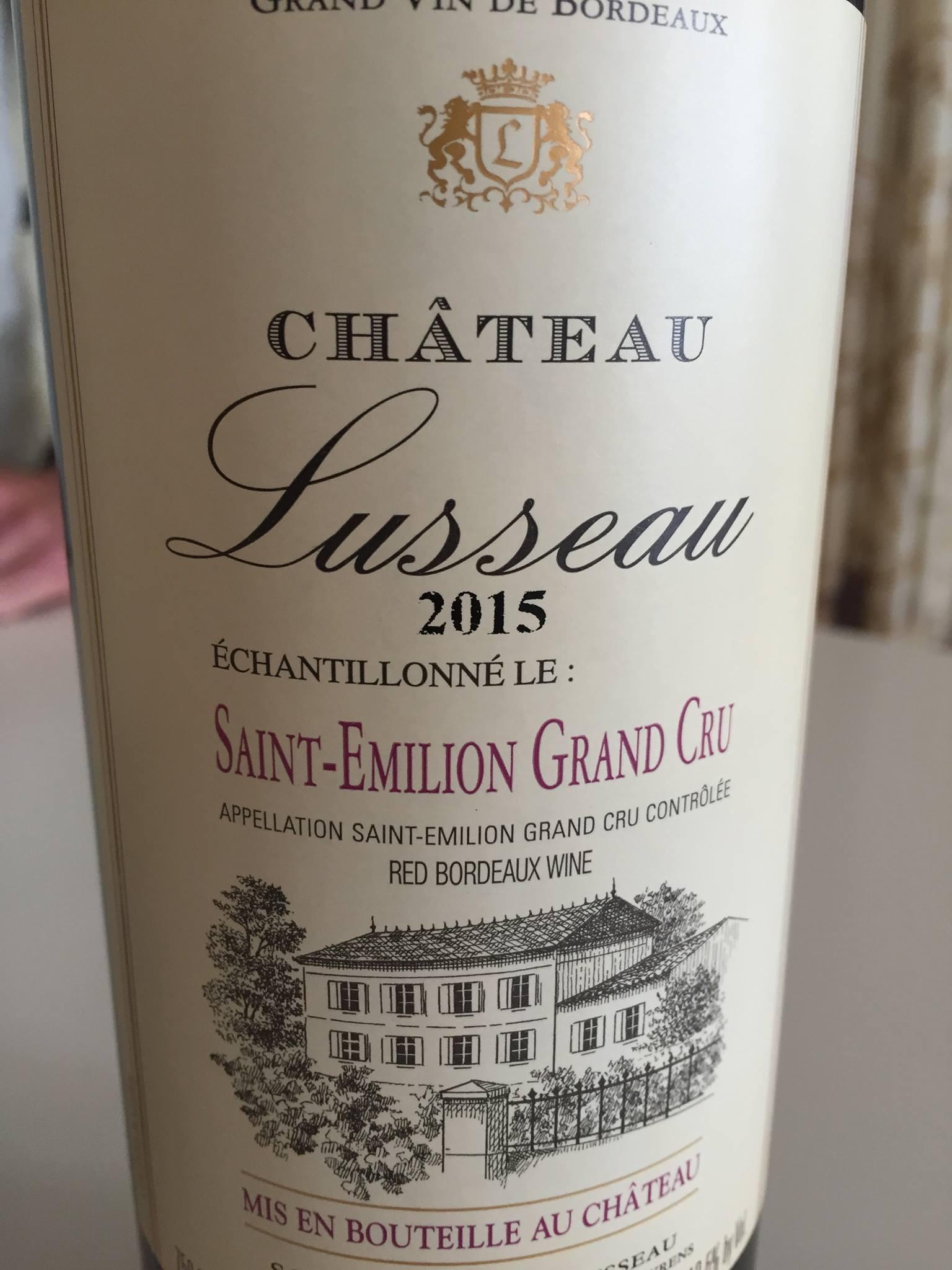 Château Lusseau 2015 – Saint-Emilion Grand Cru