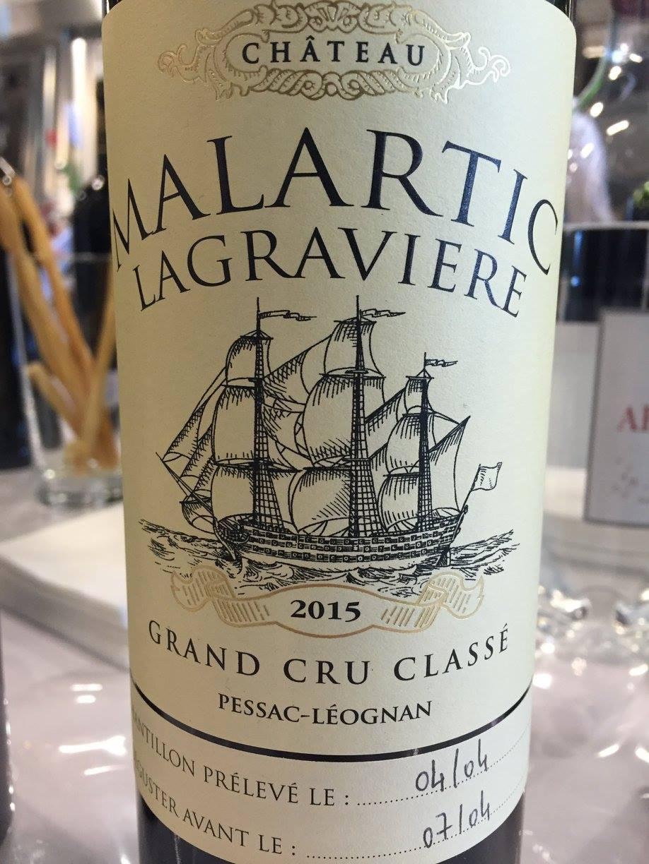Château Malartic-Lagraviere 2015 – Pessac-Léognan, Grand Cru Classé de Graves
