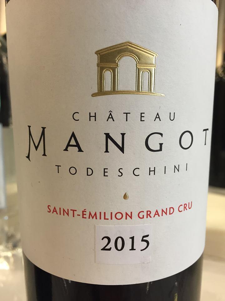 Château Mangot – Cuvée Todeschini 2015 – Saint-Emilion Grand Cru
