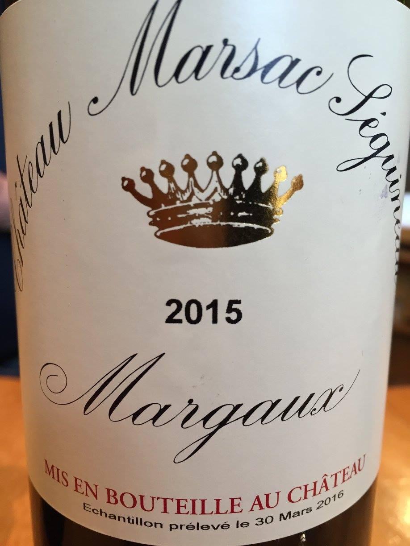 Château Marsac Seguineau 2015 – Margaux